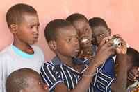 Students with camera